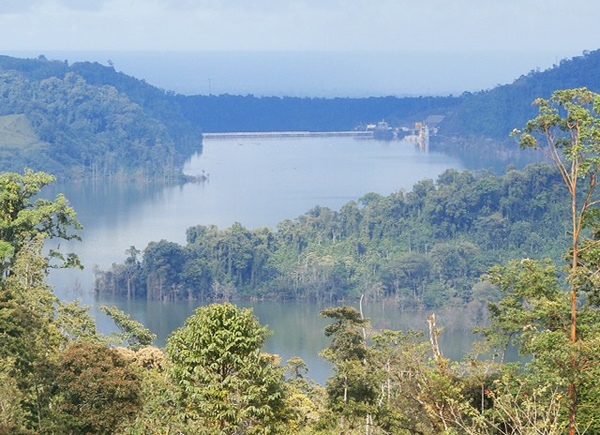 Reventazon Hydroelectric Project Dam Reservoir Costa Rica